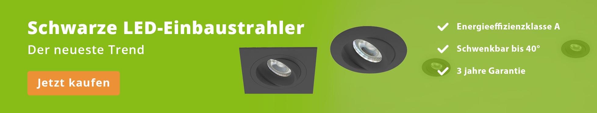 Schwarz LED Strahler