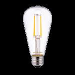 Noxion Lucent Classic LED Fadenlampe ST64 E27 4W 827 Klar   Ersatz für 40W