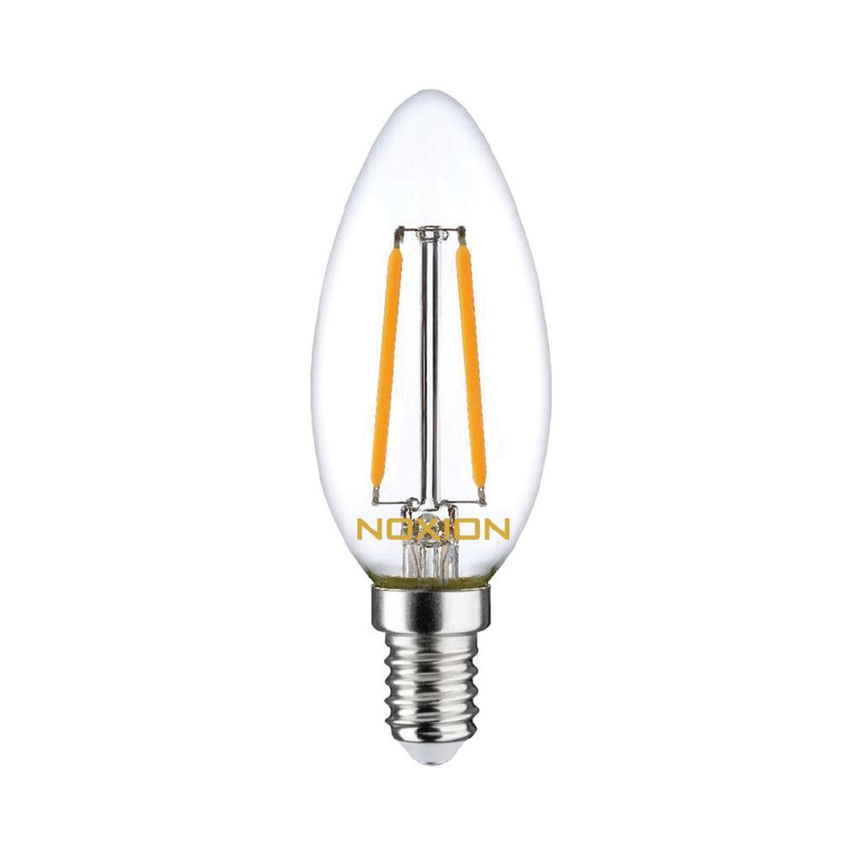 Noxion Lucent Fadenlampe LED Candle 2.5W 827 B35 E14 Klar | Ersatz für 25W