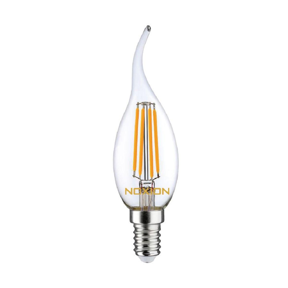 Noxion Lucent Fadenlampe LED Candle 4.5W 827 BA35 E14 Klar   Dimmbar - Ersatz für 40W