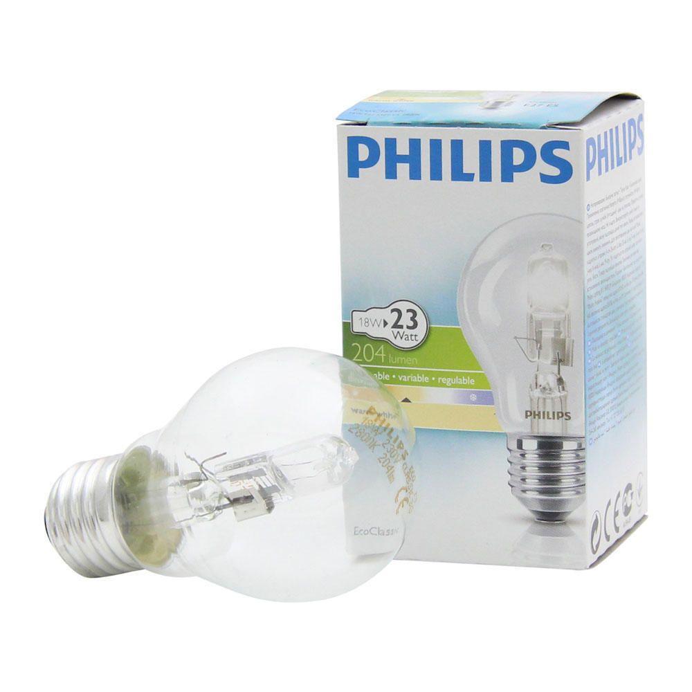 Philips EcoClassic 18W E27 230V A55 Klar