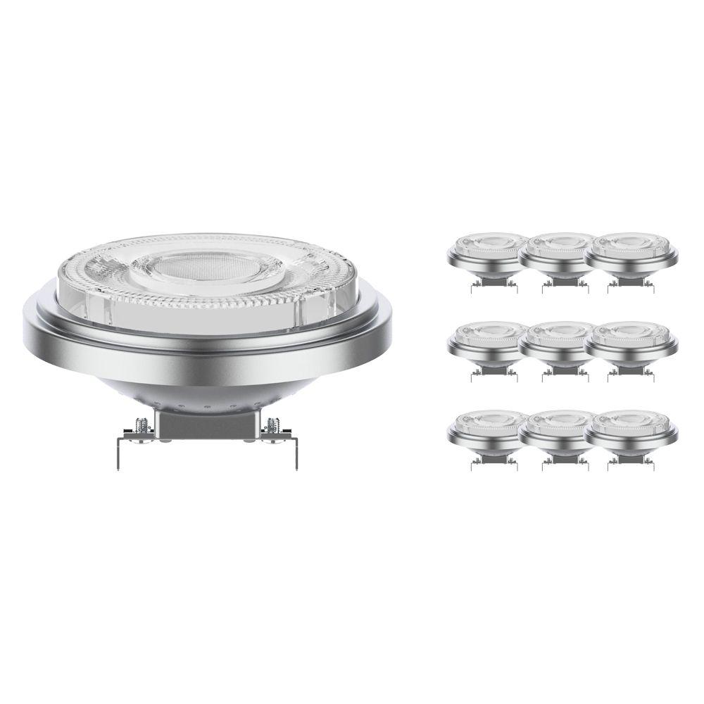 Mehrfachpackung 10x Noxion Lucent LED-Spot AR111 G53 12V 7.3W 930 24D | Dimmbar - Höchste Farbwiedergabe - Ersatz für 50W