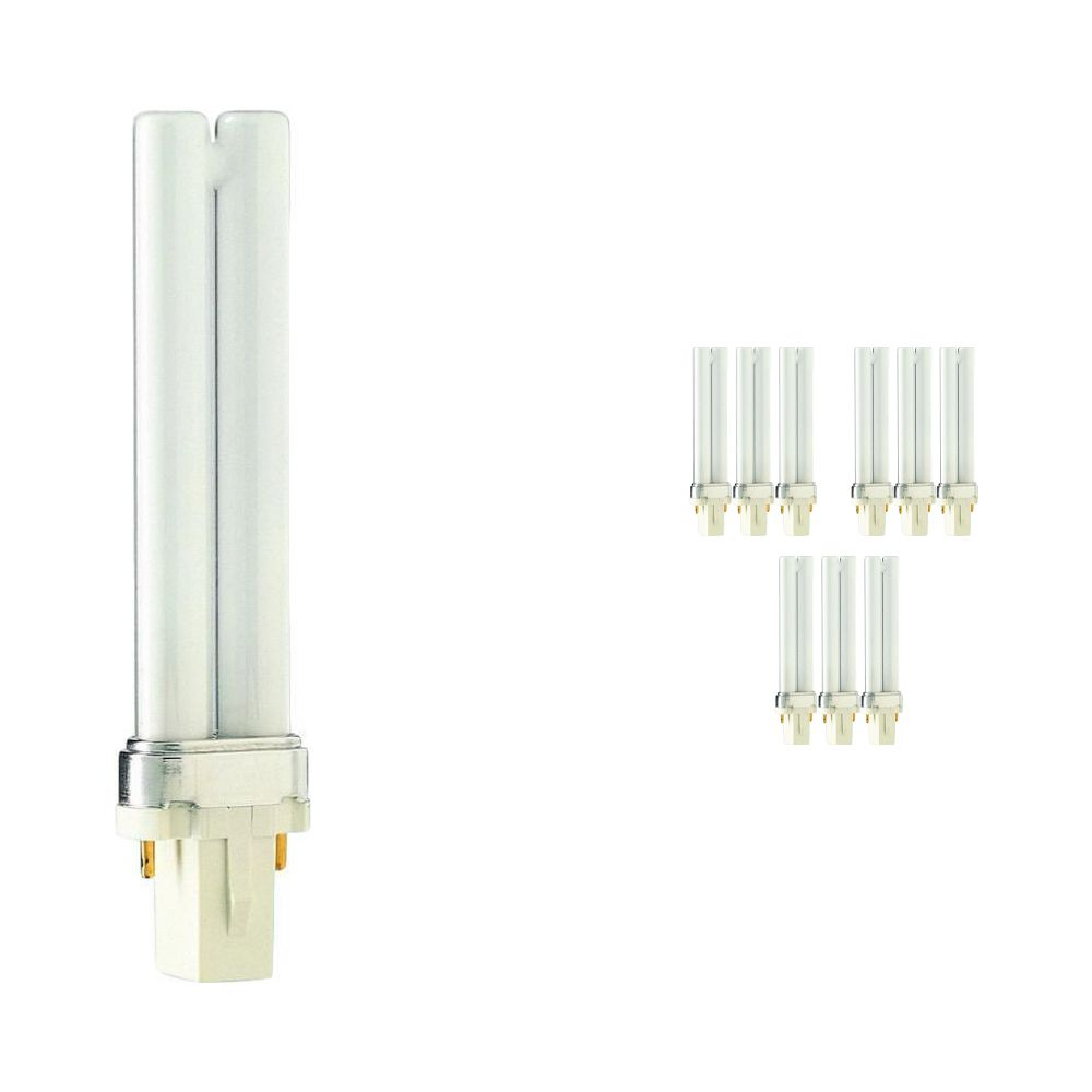 Mehrfachpackung 10x Philips PL-S 7W 830 2P (MASTER) | 2-Pins