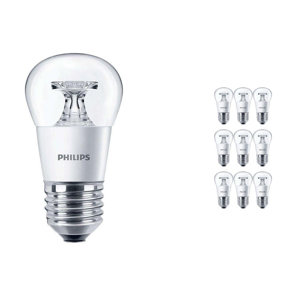 Mehrfachpackung 10x Philips CorePro LEDluster E27 P45 4W 827 Klar | Ersatz für 25W