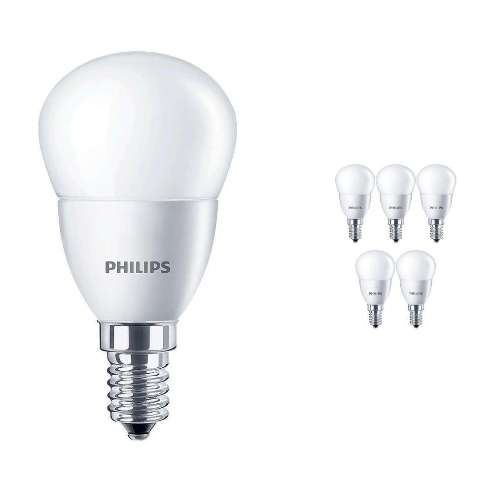 Mehrfachpackung 6x Philips CorePro LEDluster E14 P45 5.5W 827 Matt | Ersatz für 40W