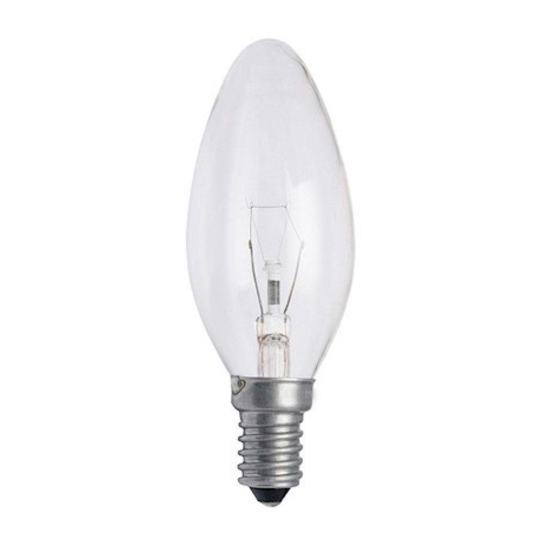 Standard Glühlampe Kerze Klar B35 E14 25W 230V