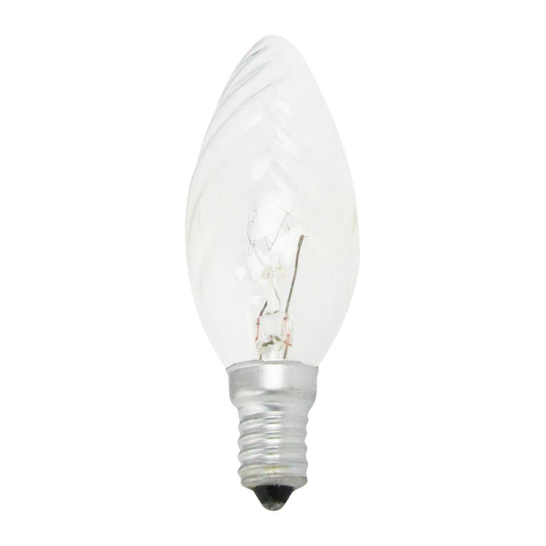 Standard Glühlampe Kerze verdreht Klar BF35 E14 25W 230V