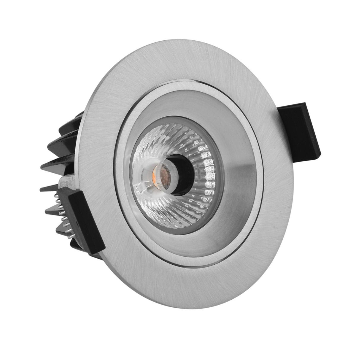 Noxion LED-Spot Diamond IP44 2700K Aluminium | Höchste Farbwiedergabe - Dimmbar