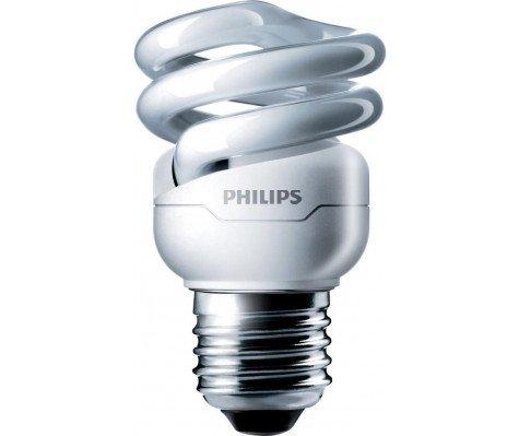 Philips Tornado T2 Spiral 8W 827 E27   510 Lumen
