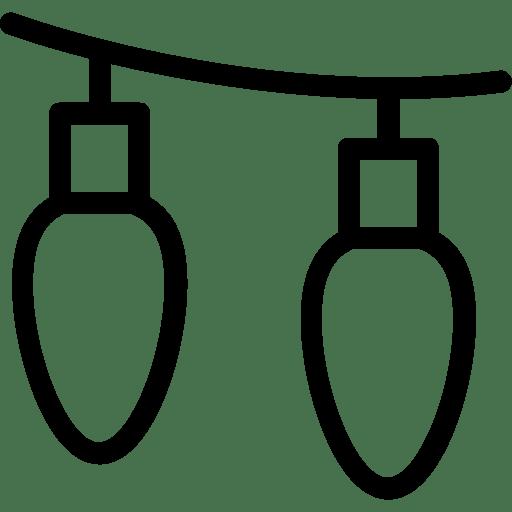 Icon mit hängenden Lampen